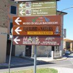 installati nuovi cartelli segnaletici per bottega scuola presso villa baciocchi a capannoli