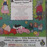 """spettaccolo teatrale """"Favole e Fiabe"""" dalle ore 21.30 in villa baciocchi sabato 31 agosto (alle ore 20 apericena)"""