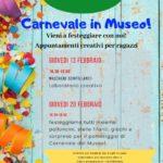 attività ludico-didattiche per il carenavale 2020 ai musei di villa baciocchi giovedì 13 e 20 febbraio nel pomeriggio dalle ore 16.30 alle ore 18.00